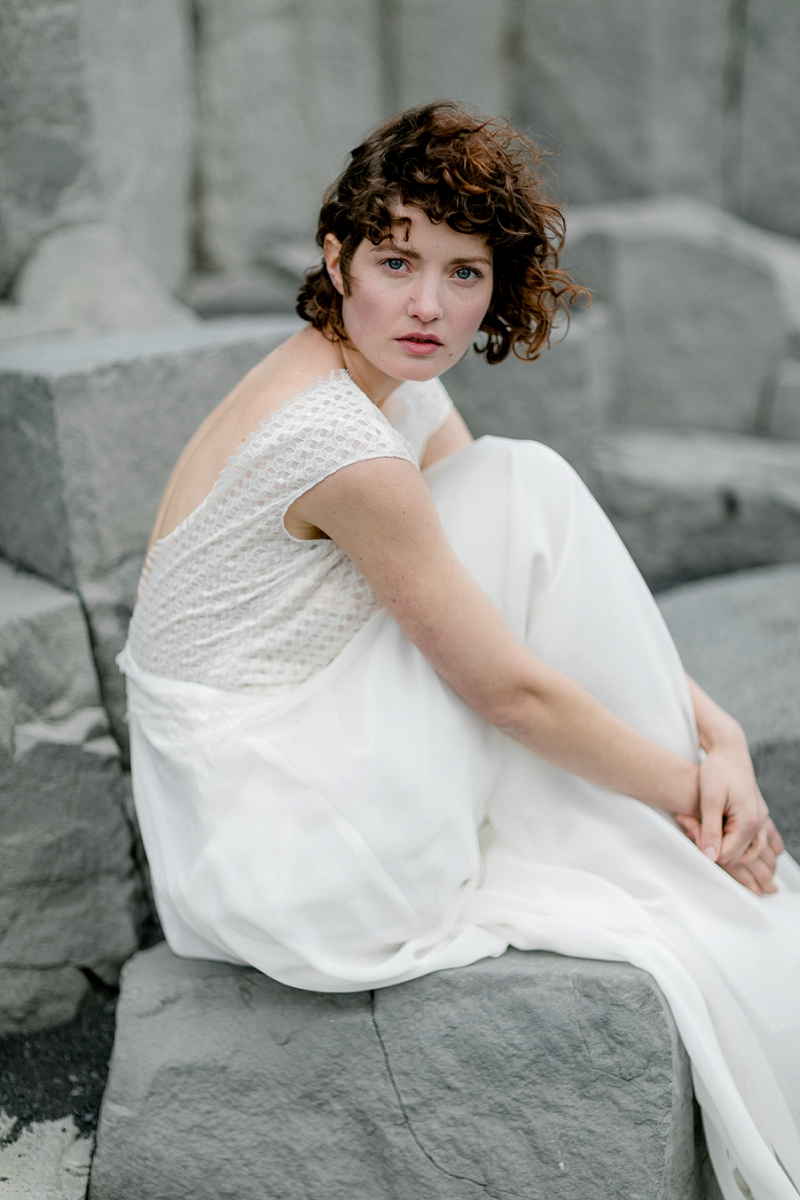 Anja Linner Island Editorial Shoot Therese und Luise Braut Hochzeit Island Heiraten in Island Wedding Island